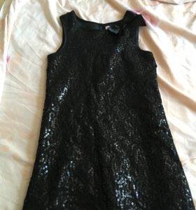 Продаю летние платья 👗 чёрное 5-6.