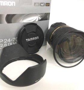 Tamron SP AF 24-70/f.2.8  + фильтр