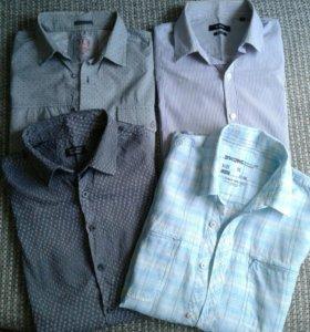 Четыре рубашки на р-р52-54