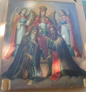 Богоматерь печорская с Антонием и Феодосием