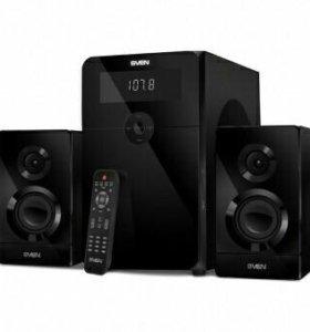 Новый BT,AUX,USB,SD,FM,пу сабуфер Sven 80w привезу