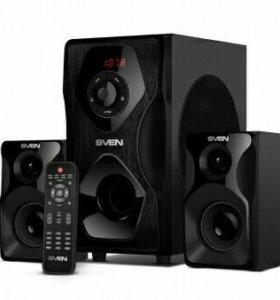 Новый BT,AUX,USB,SD,FM,пу сабуфер Sven 55w привезу