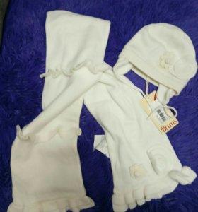 Новый комплект (шапка+шарф) Brums