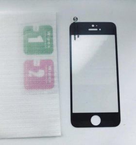 Защитное 3D стекло на iphone se / iphone 5s