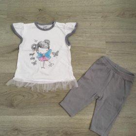 Новый комплект футболка и лосины koala baby 74 р