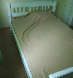 Kровать натуральное дерево. Габариты 200х180