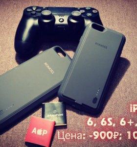 Аккумуляторный чехол для iPhone 6+, 6s+ гарантия