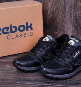 Мужские кожаные кроссовки Reebok Classic Black