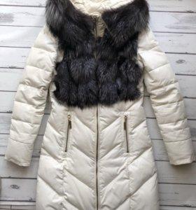 Куртка- пальто из ЭКО-кожи зимняя