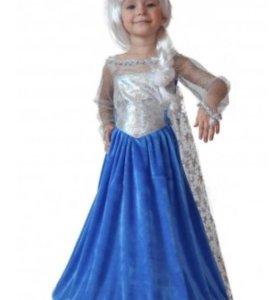 Платье Эльзы карнавальное