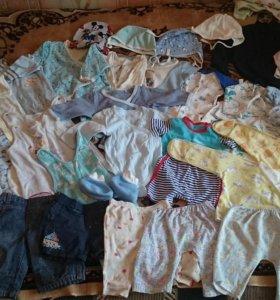 Пакет детских вещей 56-62 размер