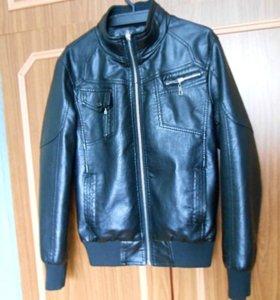 Куртка кожаная. Подростковая.