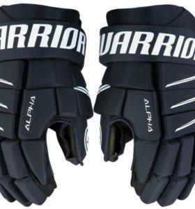 """Краги Warrior Alpha QX5, SR, 14"""", тёмно-синие"""