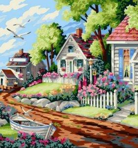 """Картина """"Лето в деревне"""""""