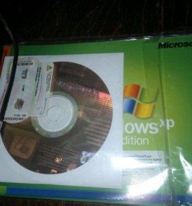 Windows XP диск+наклейка с ключом