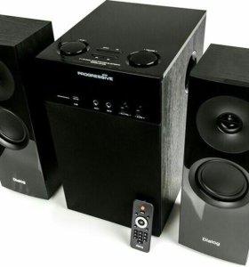 Новый BT,AUX,USB,TF,FM сабвуфер Dialog 80w привезу