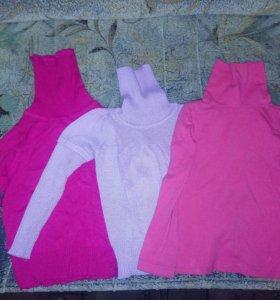 Водолазки и футболки для девочки