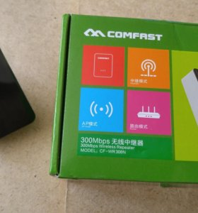 Усилитель Wi-Fi репитер Comfast CF-WR300N 300Mbps