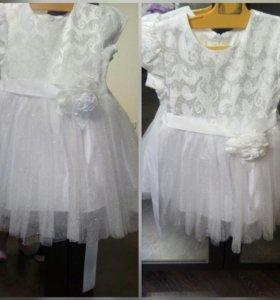 Белое платье 2-3 года
