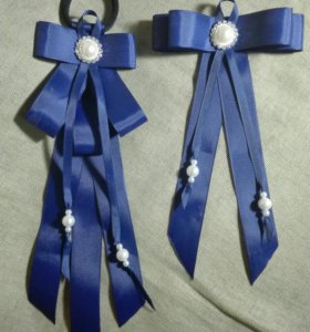Комплект брошь-галстук, резинка-мальвинка (#4)