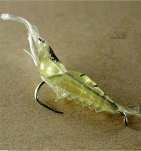 40 мм 0,12 г  мягкая силиконовая приманка креветка