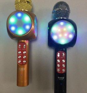 Караоке микрофон Wster WS-1816 с Led подсветкой
