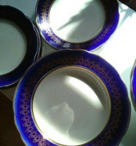 Тарелка синий кобальт