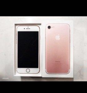 iPhone7 розовое золото