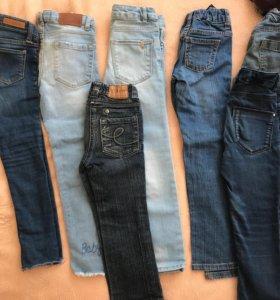 джинсы разные 1-6 лет для девочки