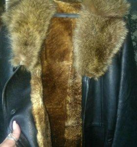 Пальто мужское натур.кожа и натур.мех.(лиса)