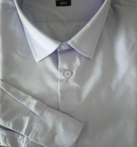 Новая Рубашка классическая на стройного мальчика