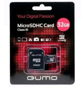 НОВЫЕ карты памяти MicroSDHC 32Gb Qumo Class10