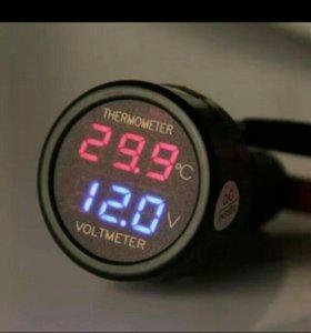 Вольтметр- ,термометр.