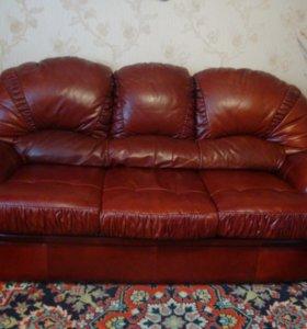 Мебель из натуральной кожи.