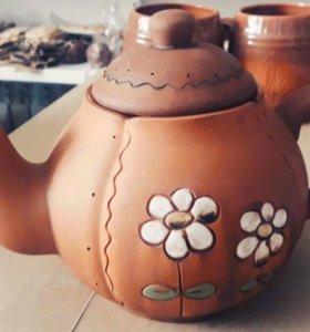 Чайники глиняные
