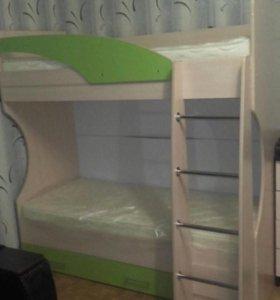 Детская кровать двухъярусная НОВАЯ