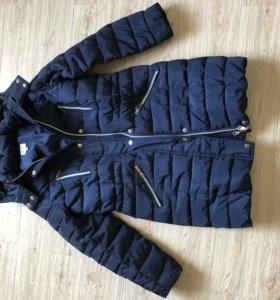 Утеплённое пальто-пуховик 146см