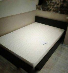 Кровать с матрасом 120*200 венге