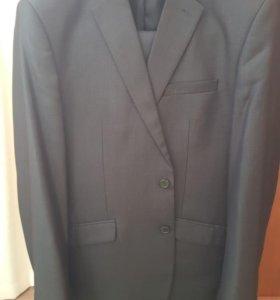 Костюм, осенняя кожаная куртка, рубашка