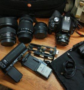 Комплект фотоаппарат обьективы сумки