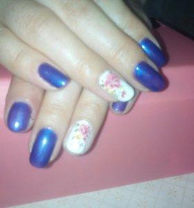 Покраска ногтей гель лаком
