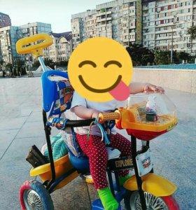 Велосипед коляска.
