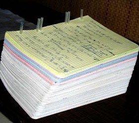 Переписываю конспекты, лекции, набираю текст