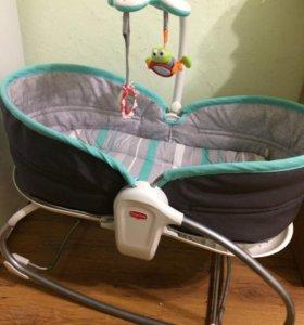 Детский шезлонг-кроватка-кресло-люлька 0+