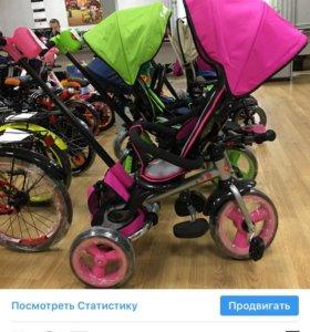 Складной трехколёсный велосипед Smart baby