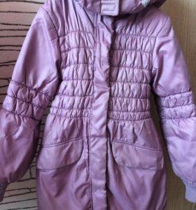 Пальто зимнее для девочки фирма Kids