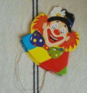 Колпаки праздничные клоун набор