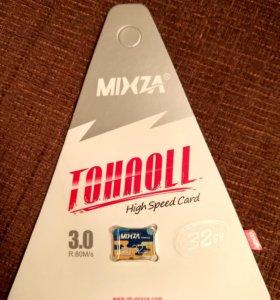 Карта памяти 32GB microSD (новая)