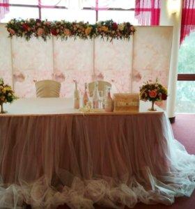 Декор свадьбы, букет невесты, оформление