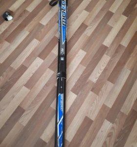 Лыжи беговые с креплением 170 + палки
